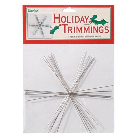Bulk Buy: Darice DIY Crafts Ornament Form Snowflake Large 6 inches (6-Pack) 1956-18