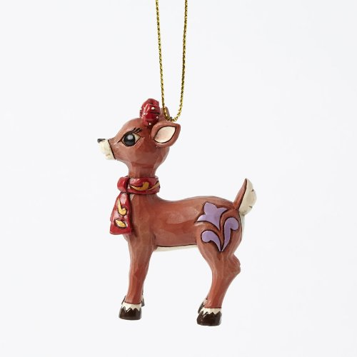 Rudolph Jim Shore Holiday Ornament Clarice W/ Gold Accent Ornament