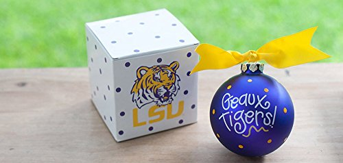 Coton Colors LSU Tigers Logo Ornament (Lsu). Any Louisiana State University Fan Will Love This LSU Logo Ornament. You'll Be Proud to Showcase Your School Pride During the Holiday Season with This Spirited Ornament Featuring the LSU Tiger Logo and School Colors! Each Ornament Is Perfectly Packaged with a Matching Gift Box and Coordinating Tied Ribbon for Easy Gift Giving and Safe Storage.