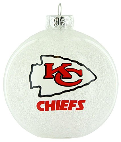 Kansas City Chiefs NFL Ornament with Color Changing LED Lights