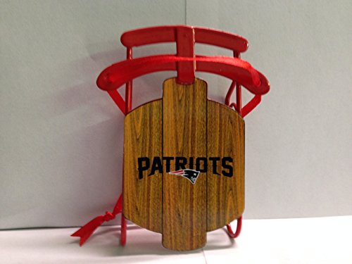 NFL New England Patriots Metal Sled Christmas Ornament – 4″