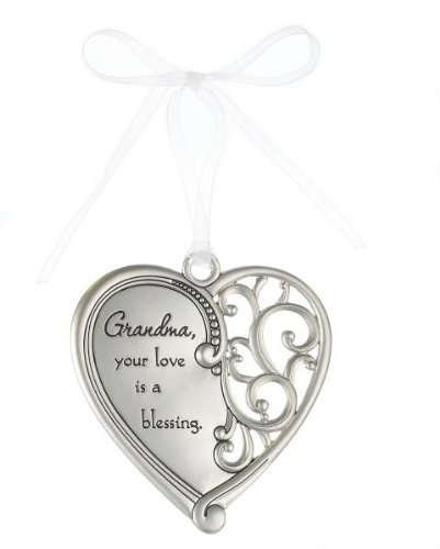 """""""Grandma, Your love is a blessing"""" Always In My Heart Filigree Ornament"""