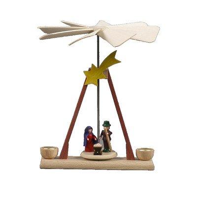 Alexander Taron Home Seasonal Décorative Accessories Dregeno Pyramid – Nativity Scene – 5.25″H x 4.25″W x 4.5″D