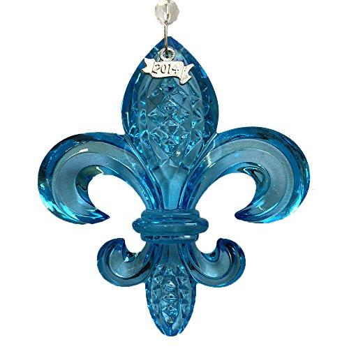 Waterford 2014 Fleur De Lys Ornament, Aqua