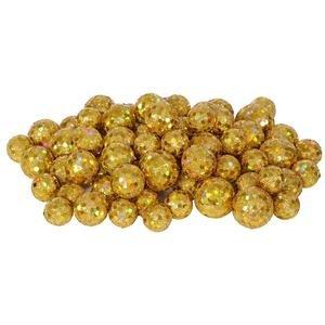 Vickerman 32951 – 20-25-30MM Gold Glitter Ball Christmas Ornament (68-72 pack) (L132208)