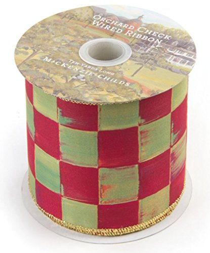 MacKenzie-Childs Orchard Check Ribbon 4″