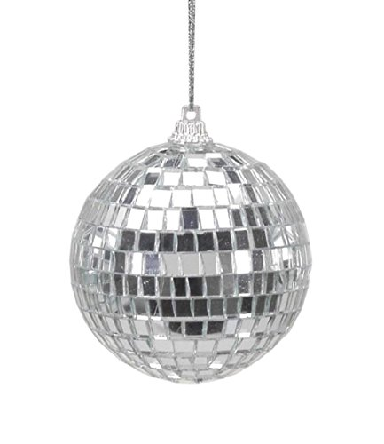 Christmas Tree Decorations Silver Mirror Ball Ornaments – 6 Pieces Per Package – Diameter 2.5 In.