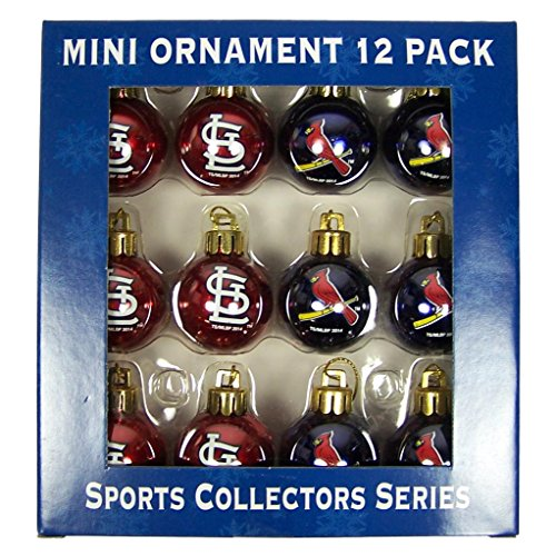 MLB St. Louis Cardinals Mini Ornament 12-Pack