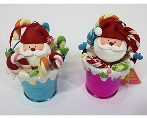 St. Nicholas Square Santa Sweet Treats Ornaments Set of 2