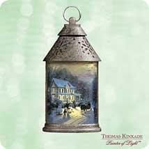 THOMAS KINKADE – HOME FOR THE HOLIDAYS 2003 Hallmark Ornament QXG8837