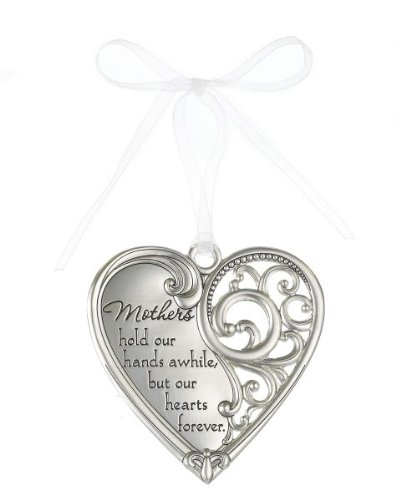 """Mothers hold our hands awhile but our hearts forever"" Always In My Heart Filigree Ornament"