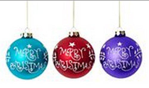 Martha Stewart Holiday Merry Christmas set of 3 Ornaments