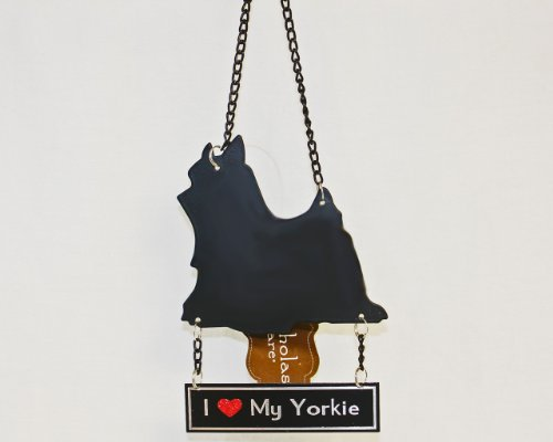 """I Love My Yorkie"" Ornament by St. Nicholas Square"