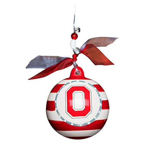 Ohio State Buckeyes 4 Inch Ceramic Stripe Ornament
