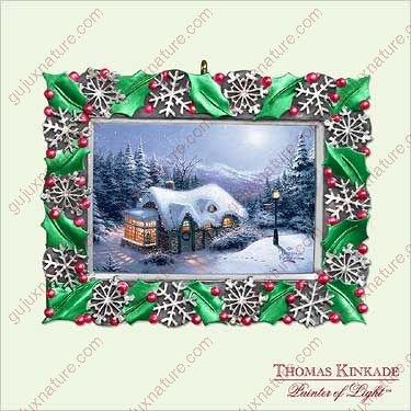 THOMAS KINKADE – SILENT NIGHT 2005 Hallmark Ornament QXG4482