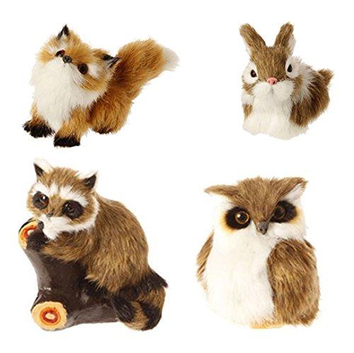 RAZ Imports – 4″ Animal Ornaments – Set of 4