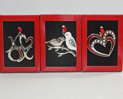 3 Piece Love Birds Ornament Set