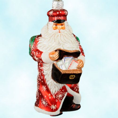 Patricia Breen Limited Edition Exclusive Ruby Postman Santa Glass Ornament