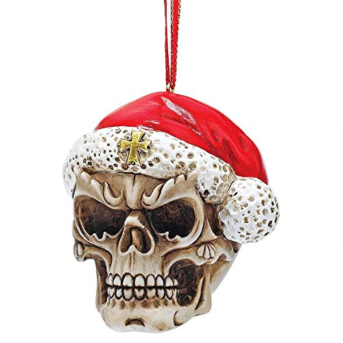 Design Toscano QS923709 Skelly Claus II Holiday Skeleton Ornament: Set of Three