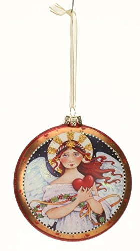 Mary Engelbreit-Mark Roberts Glass Angel Ornament