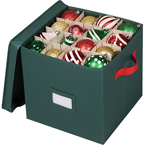 Holiday Green 64 Compartment Cube Ornament Organizer