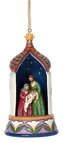 Jim Shore Heartwood Creek Lighted Holy Family Hanging Ornament