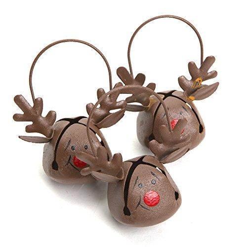 Reindeer Jingle Bell Ornaments
