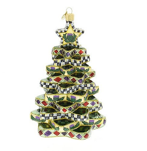 MacKenzie-Childs Cortly Check Stacking Star Tree Ornament