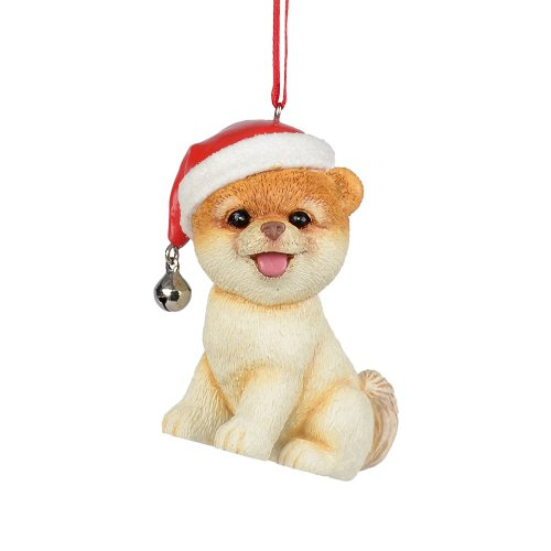 Department 56 Presents Boo The World's Cutest Dog in Santa Hat Ornament, 2.75-Inch