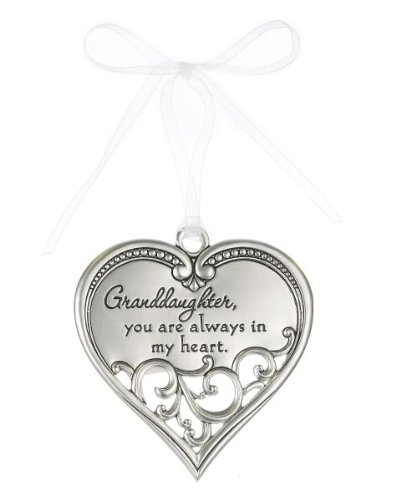 """""""Grandaughter, You are Always In My Heart"""" Filigree Ornament"""