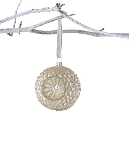 Sage & Co. XAO14584CR Reflector Glass Ball Ornament
