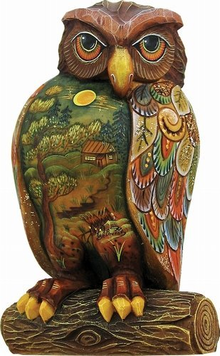 G. Debrekht Wise Messenger Owl Figurine, 4-3/4-Inch Tall, Limited Edition of 600, Hand-Painted