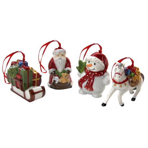 Villeroy & Boch Nostalgic Ornaments Snowwalking Set Of 4