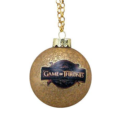Kurt Adler Game of Thrones Glass Ball Ornament, 80mm