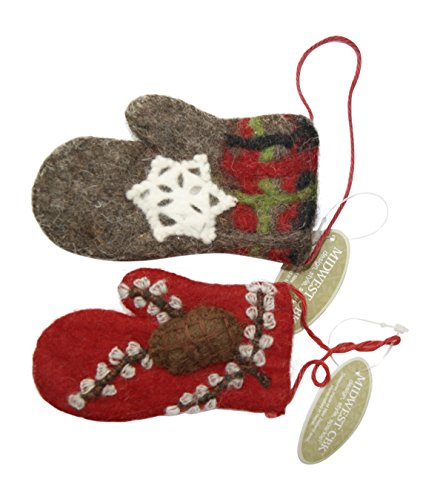 Berry and Pinecone Mitten Ornament Set of 2 by Midwest-CBK
