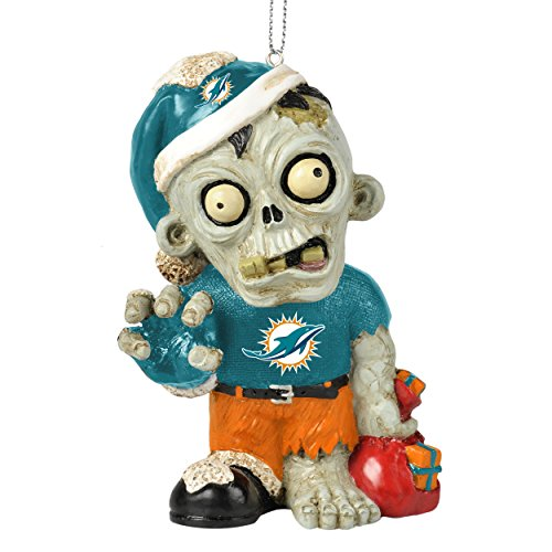NFL 2014 Zombie Christmas Hanging Ornament 4″ (Miami Dolphins)
