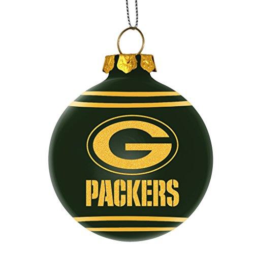 2014 NFL Football Team Glitter Logo Glass Ball Ornament – Pick Team (Green Bay Packers)