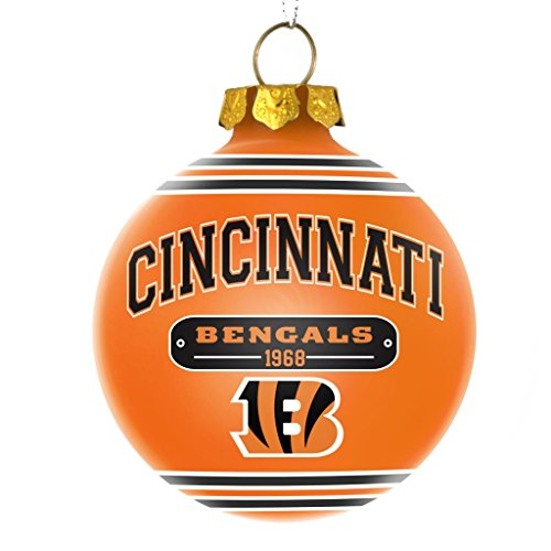 Cincinnati Bengals Official NFL 2014 Year Plaque Ball Ornament