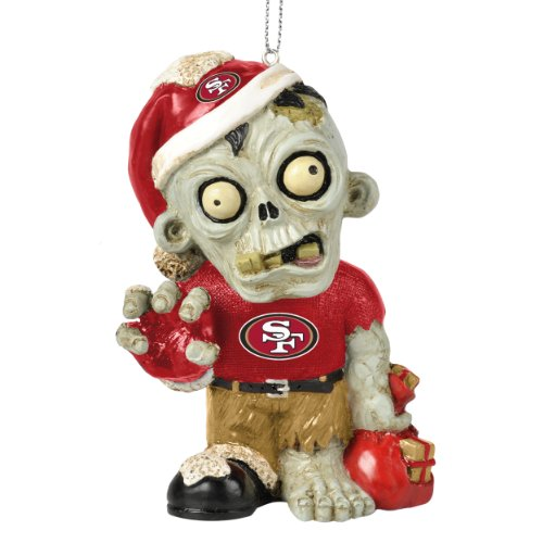 San Francisco 49ers NFL Zombie Christmas Ornament