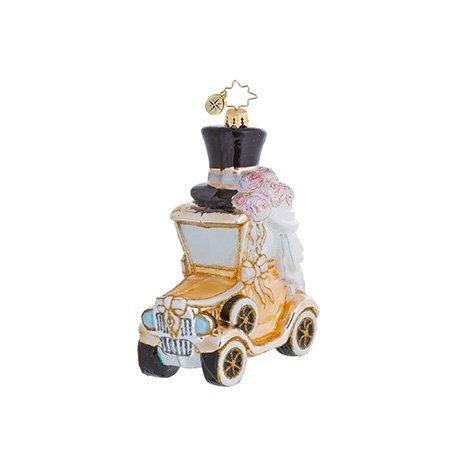 Christopher Radko A Model Wedding Car Christmas Ornament