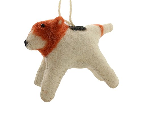Cody Foster Felt Dog Shaped Ornament – Spotted Terrier Dog