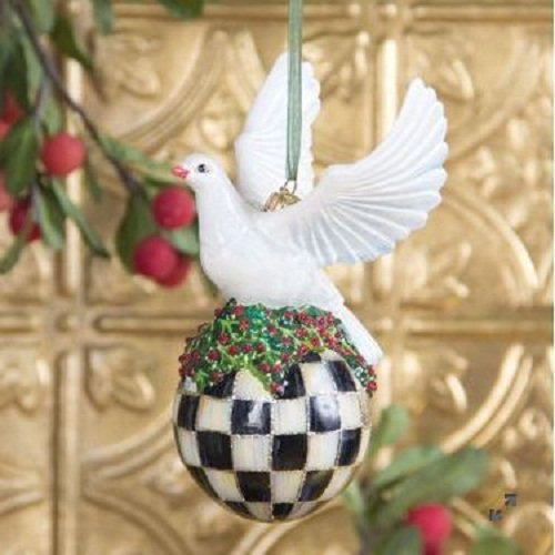 MacKenzie-Childs Glass Ornament – Turtledove