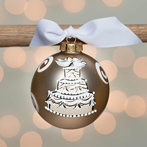Glory Haus Wedding Cake Glass Ornament