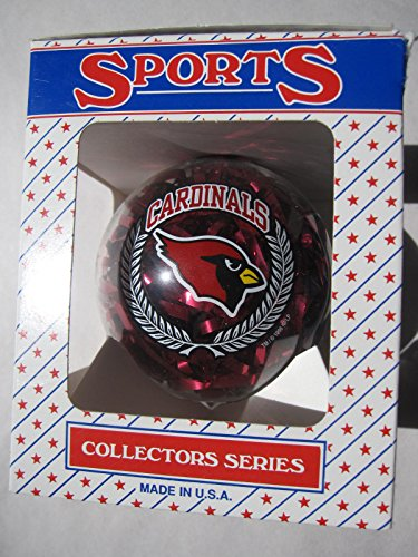 3.25″ Arizona Cardinals Confetti Ornament Ball