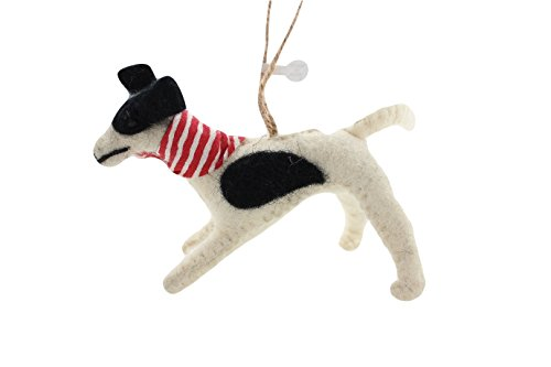 Cody Foster Felt Dog Shaped Ornament – Greyhound Dog