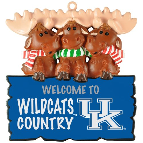 """Ketucky Wildcats NCAA """"Welcome to Wildcats Country"""" Hanging Moose Ornament (Appx 3.5″)"""