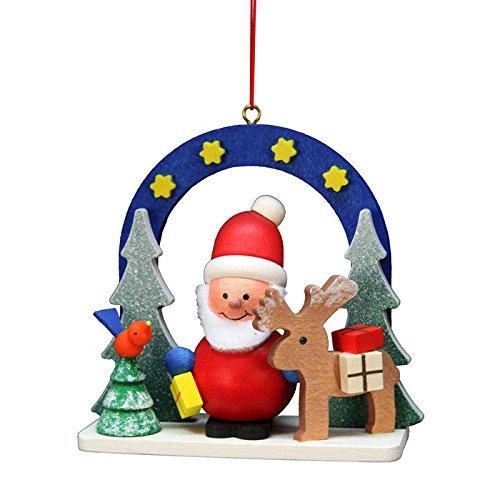 "10-0588 – Christian Ulbricht Ornament – Starry Sky Santa – 2.75″""H x 3″""W x 1.25″""D"