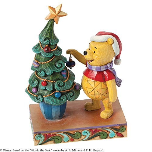 Disney Jim Shore Winnie the Pooh And Piglet Trim the Tree With Me Figurine