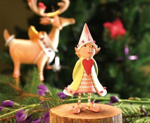 Patience Brewster Cupid's Heart Elf Ornament