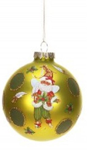 Mark Roberts Round Blown Glass Fairy Ornament with Holly – Includes Official Mark Roberts Gift Boxed 3.5″